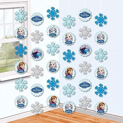 Disney Eiskönigin Frozen - Fiesta Decodificación De Pendientes Decoración De La Habitación 6 Piezas por Amscan