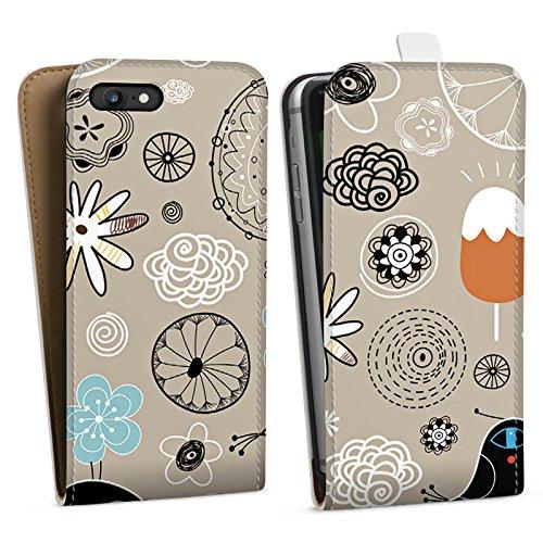 Apple iPhone X Silikon Hülle Case Schutzhülle Birds love Icecream Eis Vögel Downflip Tasche weiß