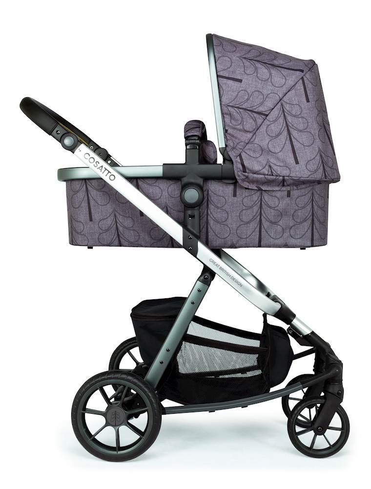 Cosatto Giggle Quad Pram & Pushchair Fika Forest Cosatto Enhanced performance. unique tyre material and all-round premium suspension give air-soft feel. Comfy all-round. spacious carrycot for growing babies.  washable liner. reversible reclining seat. Ultimate buy. tested up to a mighty 20kg for even longer use. big 3.5kg capacity basket for big shop 2