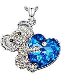 Kate Lynn Women Rhodium Plated Crystal from Swarovski Waltz of the Snowflakes Necklace Pendant Nickel Free Passed SGS test