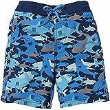 Sun Smarties UPF 50+ Blue Shark Swim Trunk With Washable Swim Diaper 12M