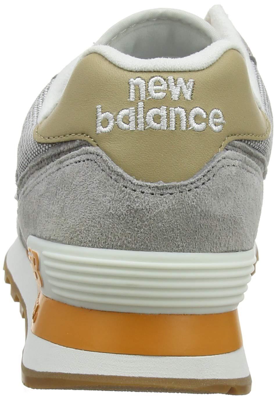new balance 574 uomo grigio arancione