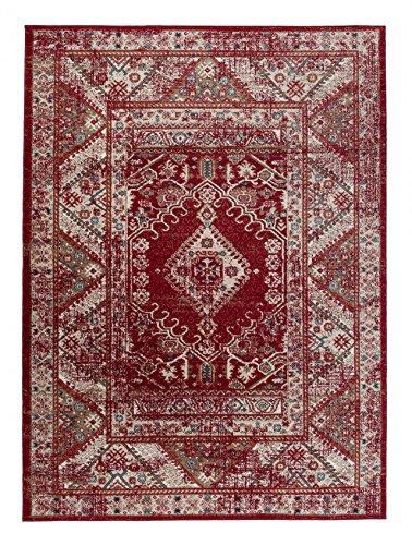 """Kleiner traditioneller Perserteppich - Weinrot - Perser Keshan Orientalisches Muster - Ferahan- Ziegler Ornamente - Top Qualität Pflegeleicht Teppich """" EMIRAT """" 120 x 170 cm"""
