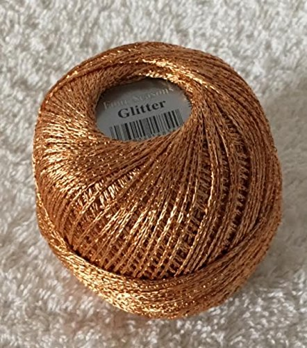Glitter 8221 Kupfer gründl Garn 25g - 110m