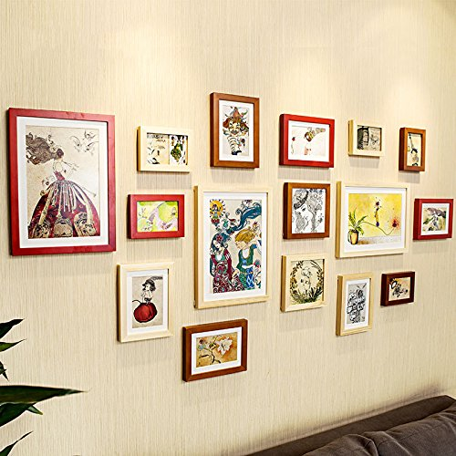 Preisvergleich Produktbild Massivholz photo wall-box im Wohnzimmer, Schlafzimmer kreative Kombination Foto wall Picture frame Wandhalterung an der Wand alle weiß