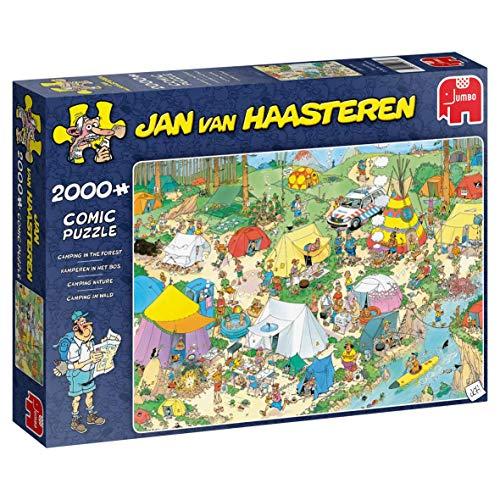 Jan van Haasteren 19087 Puzzle Camping im Wald, 2000 Teile