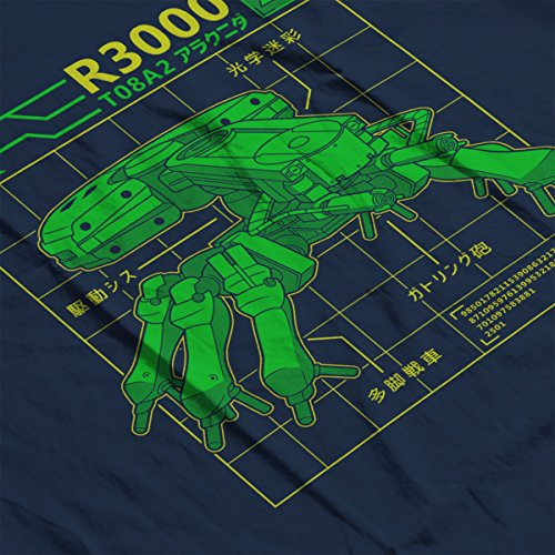 R3000 Robot Database Ghost In A Shell Women's Vest Navy blue