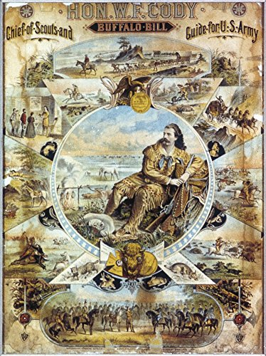 Buffalo Bill Poster C1884. /Nlithograph Poster for Buffalo Bill's Wild West Show C1884. Kunstdruck (60,96 x 91,44 cm) (West Bills Wild Buffalo)