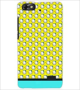 PrintDhaba Kitty pattern D-1775 Back Case Cover for HUAWEI HONOR 4C (Multi-Coloured)