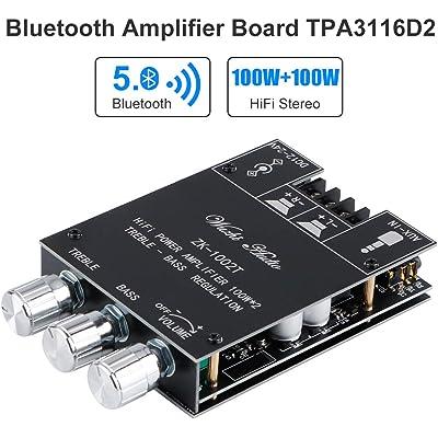 Amplificatore Bluetooth 5.0 Amplificatore Audio Casa Stereo Hifi 2.0 TPA3116D2 2X100W