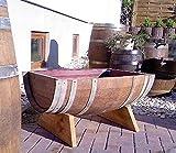JUNIT 115 Liter quer gebrauchtes Barrique-Eichenfasshälfte mit D.70cm