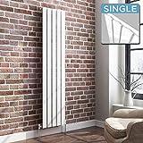 iBathUK | 1600 x 360 Vertical Column Designer Radiator White Gloss Single Flat Panel