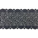 3m x 18cm Breit Dehnbar Elastisch Band Baumwolle Polyester Braut Spitze Für Kopfband Babys von Trimming Shop