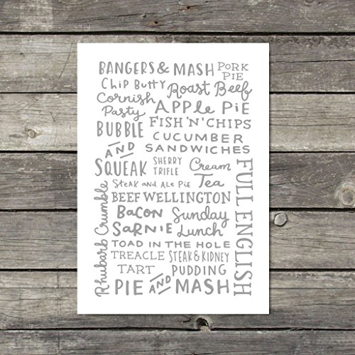 british-food-print-kitchen-wall-art-neutral-kitchen-decor-british-grub-food-art-typographic-print