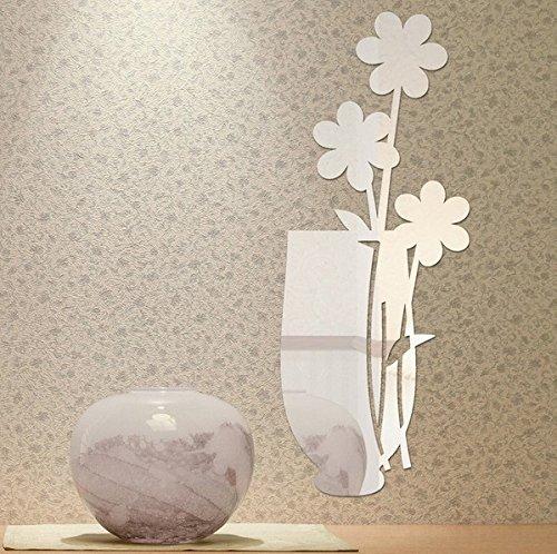 qwer Specchio a parete superficie soggiorno TV parete divano letto specchi decorativi vasi P122, argento