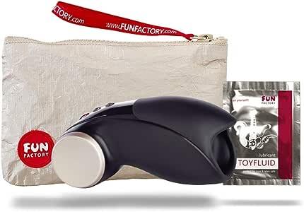 Fun Factory COBRA LIBRE II - Vibrator für Ihn, Eichelstimulator, hochwertiger Masturbator für Männer mit 11 Stufen, Set mit Tasche + Gleitgel, medizinisches Silikon (Schwarz Set)