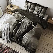 Funda nórdica de matrimonio animales 3d con fundas elefante Juego Colcha gris 200x 200/220