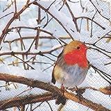 Lunch Servietten Robin in a Winter Tree - 20 Stück
