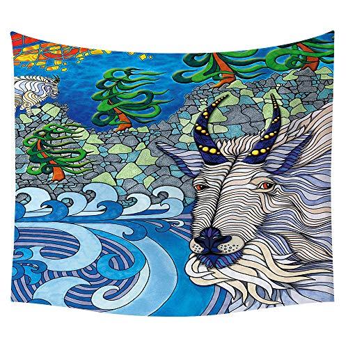 Manta De Tapicería Coloreada Abstracta Bohemia Decoración Casera De Pared Playa Alfombra De Pared Pintura Colgante,229X150Cm,11