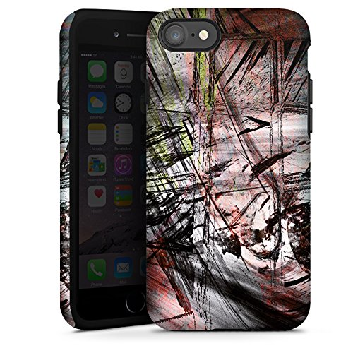 Apple iPhone X Silikon Hülle Case Schutzhülle Grunge Abstrakt Graffiti Tough Case glänzend