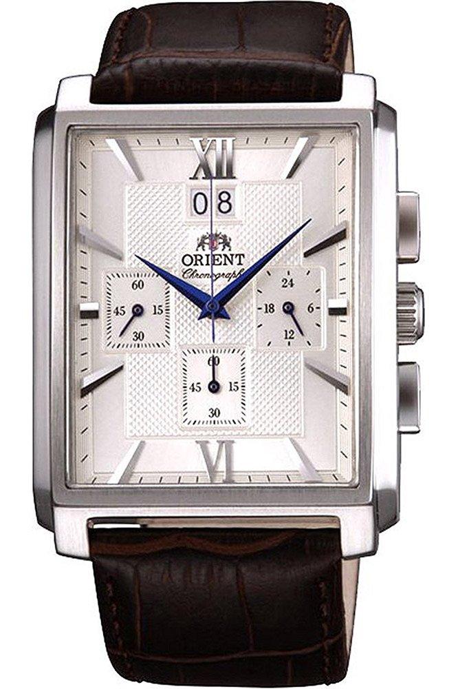 Orient Reloj Cronógrafo para Hombre de Cuarzo con Correa en Cuero FTVAA004S0