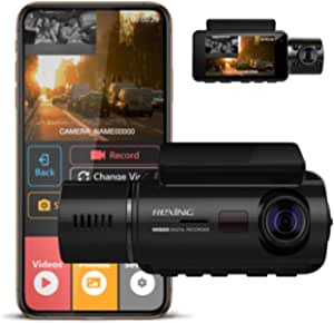 Rexing V3 Basic Dual Kamera Vorder Und Innenkabine Infrarot Nachtsicht Full Hd 1080p Wifi Auto Taxi Dash Cam Mit Superkondensator 2 7 Lcd Bildschirm Auto