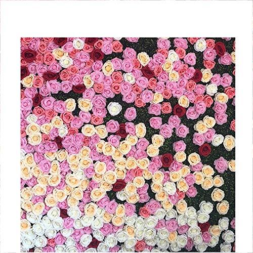 Blumenwand LVZAIXI Hochzeits-künstliche Anlage  Neugeborene Porträts Fotografie  Party Geschenk Hintergrund Valentinstag Foto Video Studio (Color : 1, Size : 40x60cm) - Klimaanlage Color-glanz