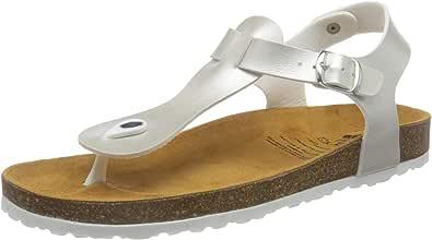 Geka Bioline Look, Pantofole a Collo Basso Donna, Argento (Silber Silber), 36 EU