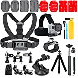 YHTSPORT 20-In-1 per Gopro Accessori, kit accessori Action Camera per GoPro Hero Session Hero 6 5 4 3 SJ4000 Xiaomi Yi DBPOWER e altre fotocamere sportive (20 in 1)