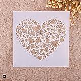 Zhuotop Kinder Zeichenschablonen Set Airbrush Schablonen zum Mode Druck Zeichnen Airbrush Malen Handwerk Scrapbooking Album Dekoration