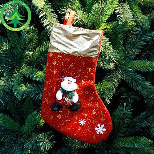 Inovey Weihnachtsschmuck 2017 Weihnachtsstrumpf Clthes Santa Socken Weihnachtsgeschenk Für Silvester Candy Geschenktüten Für Kinder - 2