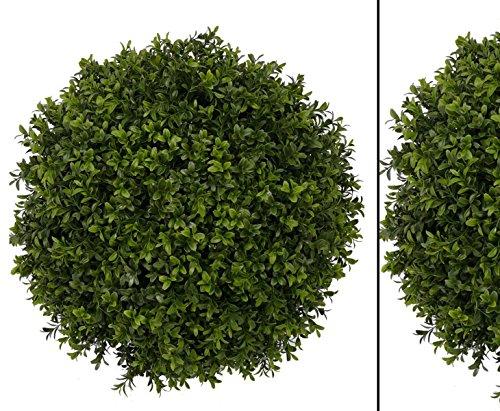 Buchsball, mit Holz Kern, Durchmesser ca. 48cm, 1836 Blätter – Kunstpflanze Kunstbaum künstliche Bäume Kunstbäume Gummibaum Kunstoffpflanzen Dekopflanzen Textilpflanzen