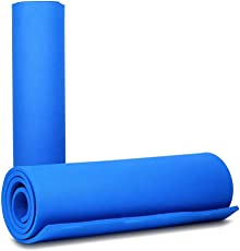 Shopexpert Yoga Mat 12mm, Fitness and Exercise Mat Color Blue