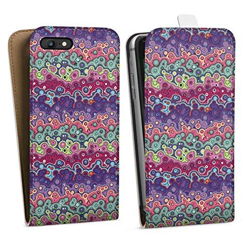 Apple iPhone X Silikon Hülle Case Schutzhülle Farben Blasen Pattern Downflip Tasche weiß