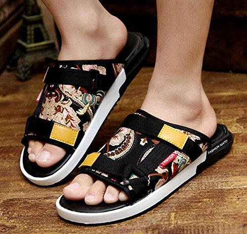 Männer öffnen sich zurück Hausschuhe Sommer Mode Leinwand Outdoor Casual Sandalen Breathable Cool Light Sandalen Vintage