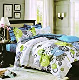 #2: HFI 140 TC Polycotton Double Bedsheet with 2 Pillow Covers - Multicolor