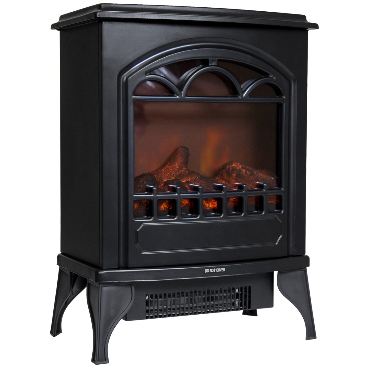 charles bentley freestanding 1 95kw electric fire stove log