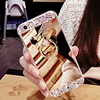 Samsung Galaxy A3 2016 Coque en Silicone Diamant,Samsung Galaxy A3 2016 Étui Souple Luxe,JAWSEU 2017 Neuf Ultra Slim Cristal Clair Bling Brillant Sparkly Glitter Miroir Ring Stand Holder Lovely Cute Mignonne Ours TPU Téléphone Coque Coquille de protection pour Femme Fille Luxury Flex Soft Gel en Caoutchouc Bumper Shockproof Anti Scratch Housse Sparkle Pailletee Strass Rigid Back Cover pour Samsung Galaxy A3 2016+1*Noir Stylo Paillettes-Or