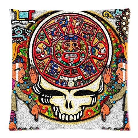 andersonfgytyh Band Grateful Dead Tie Dye Pattern Soft Pillow case Cover 20*20 Inch (Twin sides)Zippered Pillowcase