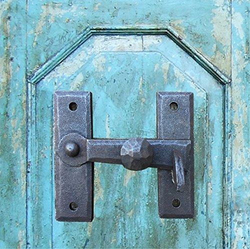 Antikas | Torverschluss aus Schmiedeeisen | Torriegel in antikem Design | Fallriegel für Türen, Tore und Fenster -