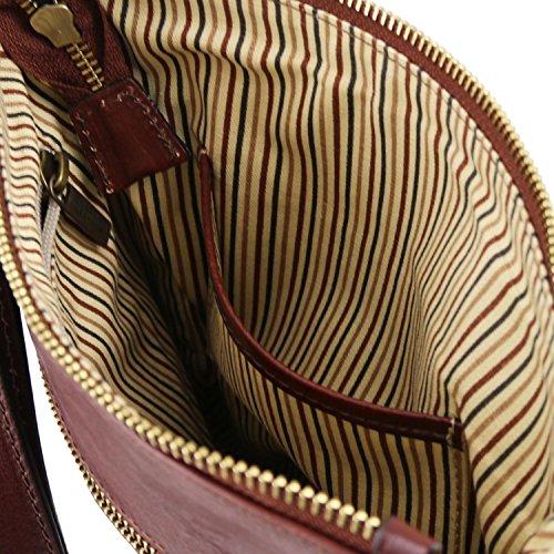 Tuscany Leather Jason Borsello da uomo in pelle Marrone Testa di Moro