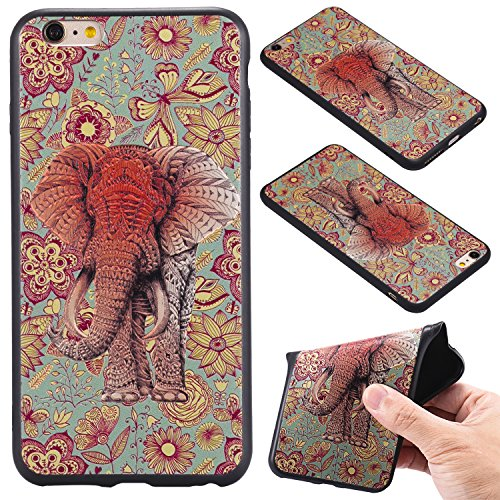 Nancen Case Apple iPhone 6 / 6S (4,7 Zoll) Gemaltes Muster Handy Hülle . Weich TPU Silikon Case Elefant