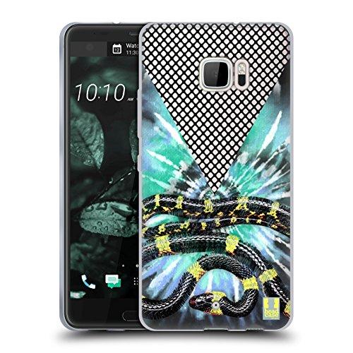 Head Case Designs Schlange Batik Kravatte Und Vermaschte Drucke Soft Gel Hülle für HTC U Ultra / Ocean Note