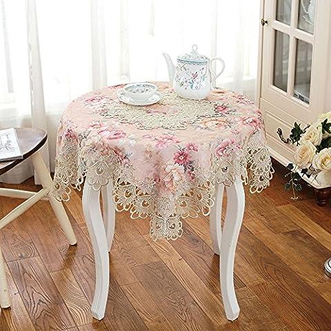 XMMLL Spitze Textilien Tischdecken Continental Rosa Stempel Esstisch Tischdecke Sitzkissen