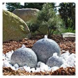CLGarden Granit Springbrunnen SB1-3 teiliger Kugel Brunen Granitbrunnen Komplett-Set Garten Wasserspiel