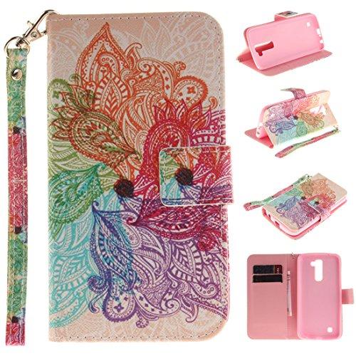 Chreey Coque Apple Iphone 6 / 6S (4.7 pouces),PU Cuir Portefeuille Etui Housse Case Cover ,carte de crédit Fentes pour ,idéal pour protéger votre téléphone fleurs multicolores