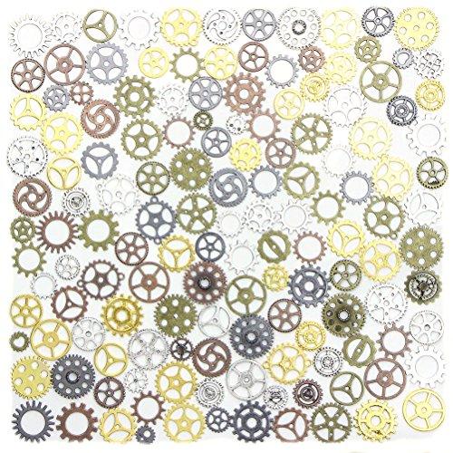 Bestim incuk 67Pack Antik Steampunk Gears Zahnrädern Charms Anhänger Uhr Armbanduhr Rad für Schmuck-Herstellung, Steampunk Zubehör, Craft Projekte, - Kostüm Schmuck Uhren