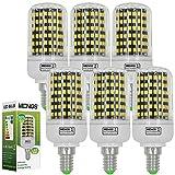 MENGS® 6 Stück E14 LED Lampe 13W AC 220-240V Kaltweiß 6500K 144x2835 SMD Mit PC und Aluminium Platte