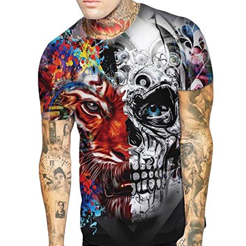T-Shirt Shirt Kurzarm Skull Germany Deutschland Totenkopf Herren