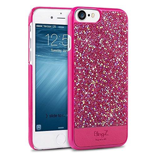 iPhone 7 Hülle,iPhone 8 Handyhülle iPhone 7, TheBlingZ.® Bling Bling Strass Glitzer Diamant Schutzhülle für iPhone 7 - Gold Rosa